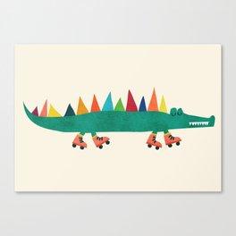 Crocodile on Roller Skates Leinwanddruck