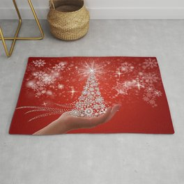 Pictures Christmas little stars Snowflakes New Yea Rug
