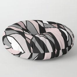 Abstract Mosaic (Pink, Grey, White) Floor Pillow