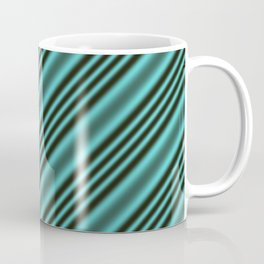 Black and Teal Modern Stripes Coffee Mug