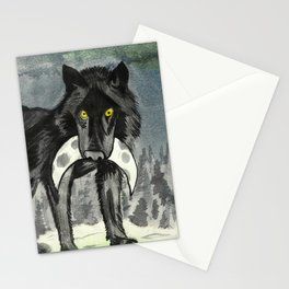 The Dead Moon in Midnight's Jaws Stationery Cards