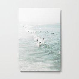 Surfer Waves Costal Ocean Metal Print