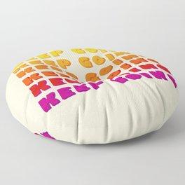 KEEP GOING - POSITIVE QUOTE Floor Pillow