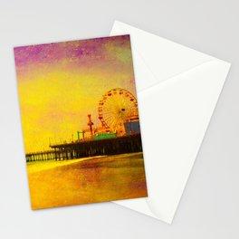 Yellow Purple Santa Monica Pier Stationery Cards