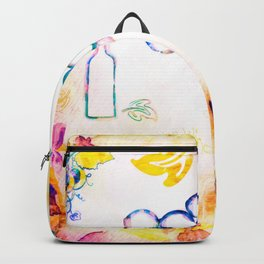 Abstract Wine - Yellow Backpack