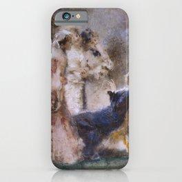 High Life - A piquant Conversation by Tranquillo Cremona - Victorian Belle Époque Retro Vintage Fine iPhone Case