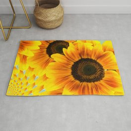 Spinning Sunflowers Rug