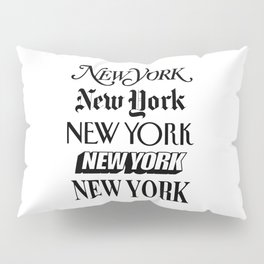 I Heart New York City Black and White New York Poster I Love NYC Design black-white home wall decor Pillow Sham