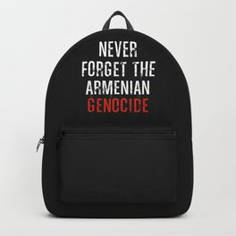 Never Forget The Armenian Genocide Backpack