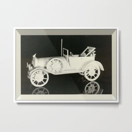Paper Car Metal Print
