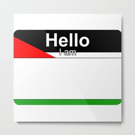 Hello I am from Palestine Metal Print