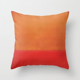 1954 Ochre Red on Red by Mark Rothko HD Throw Pillow