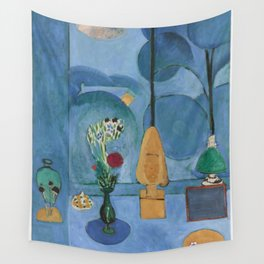 The Blue Window, Issy-les-Moulineaux, 1913 by Henri Matisse, Artwork Design, Poster Tshirt, Tee, Jer Wall Tapestry