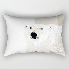 polar ice bear vector art Rectangular Pillow