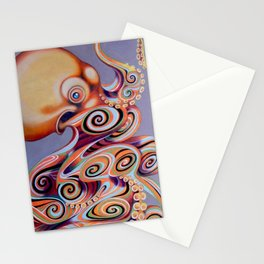 psychedelic octopus Stationery Cards