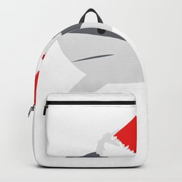 Christmas Shark Great White Christmas Backpack
