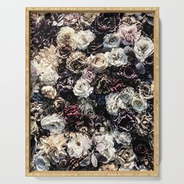 Flower Wall // Desaturated Vintage Floral Accent Background Jaw Dropping Decoration Serving Tray