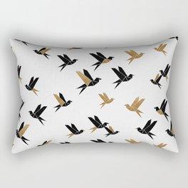 Origami Birds Collage II, Bird Decor Rectangular Pillow