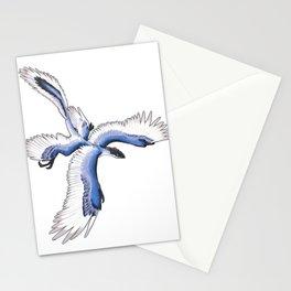 Microraptor - Blue Stationery Cards