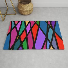 Purple Diagonals Rug