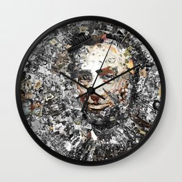 """Rendering Myself Worthy"" Abraham Abe Lincoln. Wall Clock"