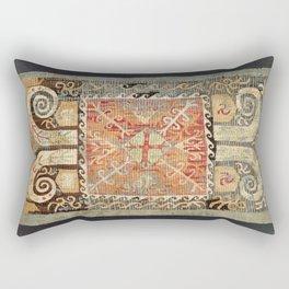 Kaitag 18th Century Caucasian Embroidery Print Rectangular Pillow
