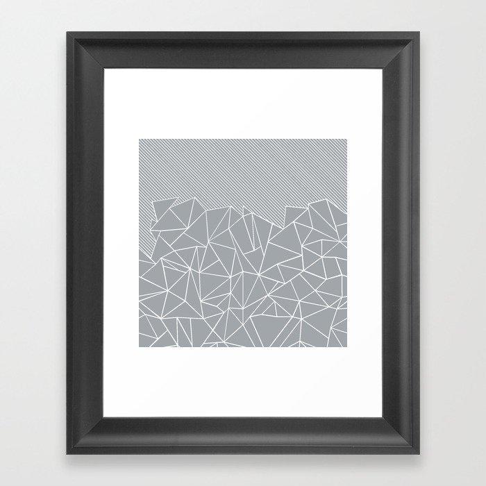 Ab Linear Grey Gerahmter Kunstdruck