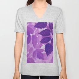 Ultra Violet Purple Leaves Unisex V-Neck