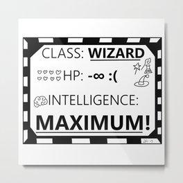 Wizarding Diploma Minus Infinity HP and Maximum Intelligence Metal Print