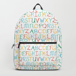 Hand Lettered Alphabet Backpack