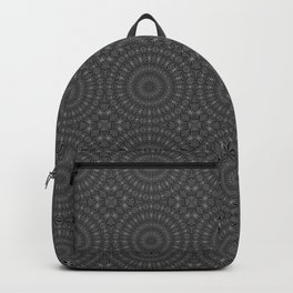 Slate Grey Spiderweb Dreamcatcher Mandala Pattern Backpack