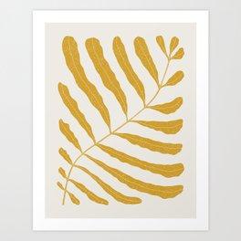 Yellow Plant Art Print