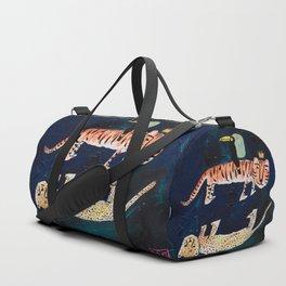 Tiger, Cheetah, Toucan Painting Sporttaschen