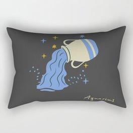 """zodiac signs """"Aquarius"""" Rectangular Pillow"""