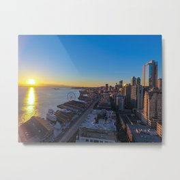 Downtown Seattle Skyline at Sunset 1 Metal Print
