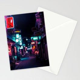 Late Night in Shinjuku's Golden Gai Stationery Cards