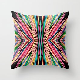 Toothpick Fusion Abstract Pattern Throw Pillow
