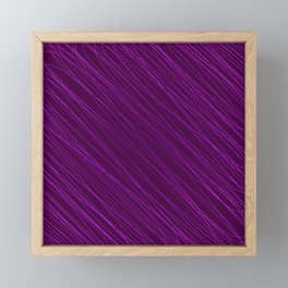 Vintage ornament of their pink threads and repetitive intersecting fibers. Framed Mini Art Print