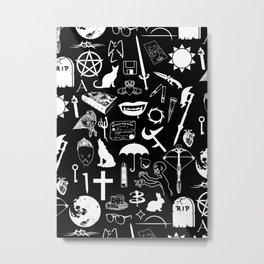 Buffy Symbology, White Metal Print
