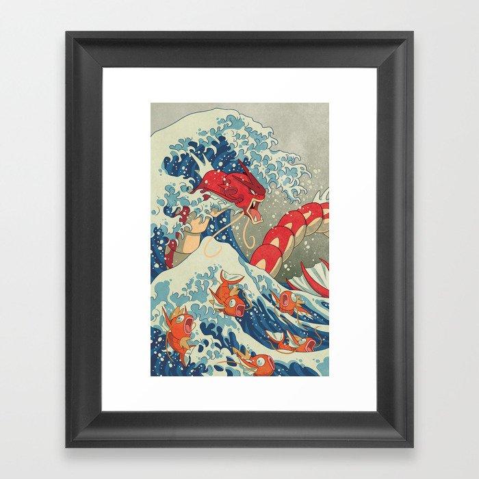 The Great Red Wave I Gerahmter Kunstdruck