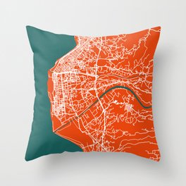 REGGIO CALABRIA Map - Italia | Tomate | More Colors, Review My Collections Throw Pillow