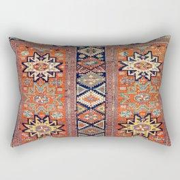 Southwestern Farmhouse V // 19th Century Colorful Red Yellow Blue Green Aztec Farm Stars Pattern Rectangular Pillow