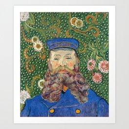 Portrait of the Postman by Vincent van Gogh Art Print