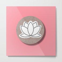 Pink Lotus Decor  Metal Print
