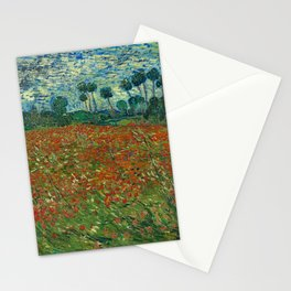 Vincent van Gogh - Poppy Field (1890) Stationery Cards