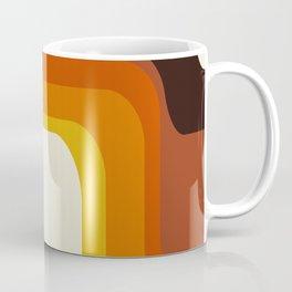 Mid-Century Modern Meets 1970's Orange Rainbow Coffee Mug