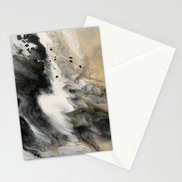 Abstract Acrylic Pour Painting Stationery Cards