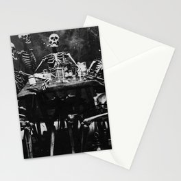 Six Skeletons Smoking Stationery Cards