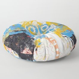 Blurring the Line Between Figuration and Abstraction Floor Pillow
