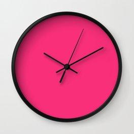 Neon Pink Wall Clock